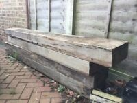 4 Pine wooden beams