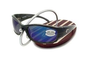 NEW Costa Del Mar HAMMERHEAD Silver Teak & 580 Blue Mirror Glass 580G