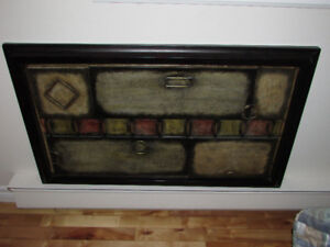 """Metal Wall Art  22 x 36"""" Hanging Picture/7"""" Tablet"""