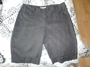 RW&Co Black Linen Dress Shorts