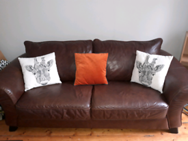 Marks & Spencer Real Leather 3 Seater Settee
