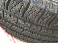Two 16 in radial tires with excellent tread left 215 / 60 R16