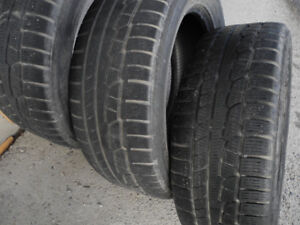 P255/55R19 Up to 3 Nokian all-weather/winter tires. Good tread.