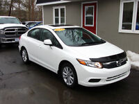 2012 Honda Civic EX 5-speed Low kms! extended factory warranty!