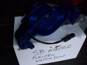 SMALL BLOCK MAGNUM MOPAR RED ELECTRIC WATER PUMP MOUNTING PLATE London Ontario image 4