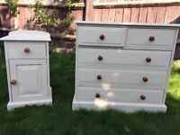 Up Cycled Solid Pine Chest of Drawers / can deliver