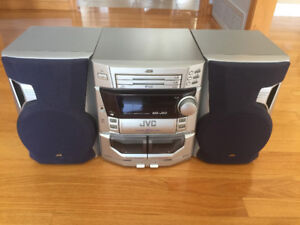 Chaine Stereo JVC MX-J50 AM FM Double Tape Cassette 3 CD
