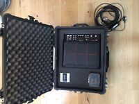 Roland SPD-SX sampling pad in Peli case