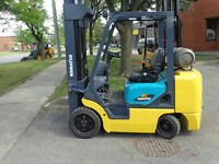 """Komatsu Forklift 6000Lb capacity with 3 stage mast lift 188""""high"""