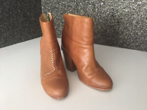 RAG & BONE Classic Newbury leather ankle boots – camel, size 9