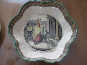 """Cries of London."" Octagonal large fruit bowl."