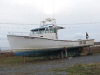 Provincial F/V ready for lobster with Cat engine