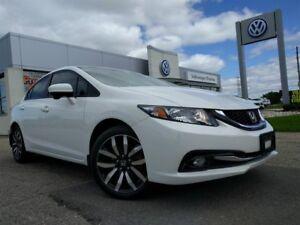 2014 Honda Civic Sedan Touring CVT w/ Navigation & Sunroof!