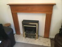 Fire place, Electric fire, Granite base