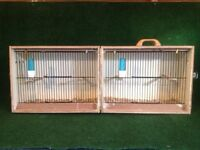 Double bird carrying cage