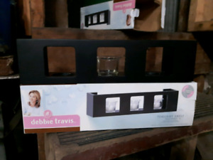 Tealight shelf x 2 by Debbie Travis wall candle lights