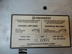 Vintage Pioneer BP-650 7 Band Graphic Equalizer w/Box & Manual Kitchener / Waterloo Kitchener Area image 7