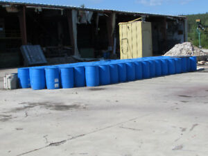 Blue Plastic Barrels 45 Gallon