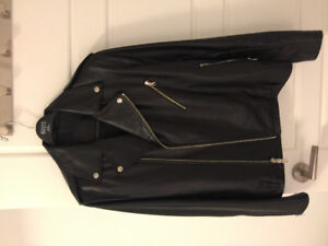 Roots leather biker jacket
