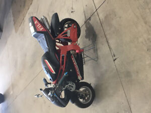 50cc pocket bike works good starts first pull no work needed  ge