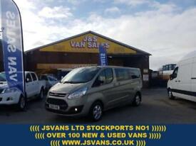 2015 65 FORD TOURNEO CUSTOM 2.2 300 LIMITED TDCI L.W.B 125 BHP UNDER FORD WARRAN