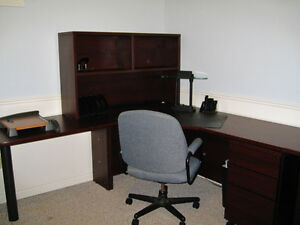Commercial Sized Desk and Armoire Kitchener / Waterloo Kitchener Area image 1