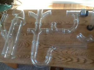 Lab glass with clamps new for sale Strathcona County Edmonton Area image 1