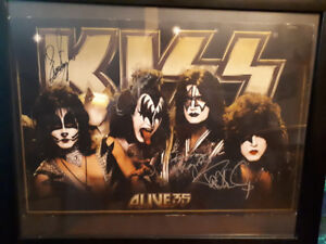 KISS Signed Alive 35 poster. All 4 current members.