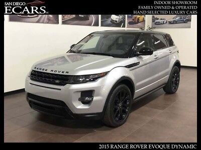 2015 Range Rover Evoque Dynamic Back Up Camera Navigation Sat Radio Heated Seats