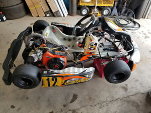 CRG racing go kart with extra parts