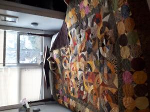 100% cotton hand sewen quilt.
