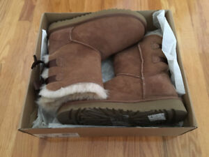 New authentic UGG Bailey Bow boots 7 chanel vuitton gucci prada