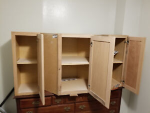3 upper cabinets