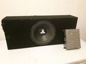 """12"""" JL Sub Woofer with 32x14x12"""" Box and Amplifier"""