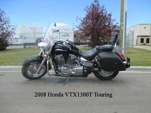 2008 Honda VTX1300T Touring - UNDER 10,000 KM!!!