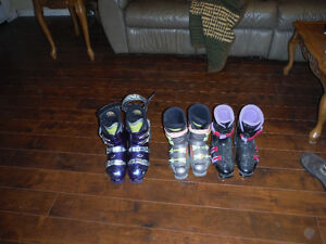 3 pairs ski boots for sale