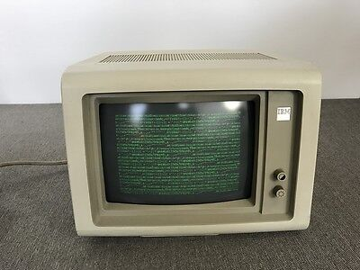 Vintage 1984 IBM 3178 Computer Monitor Monochrome Green   Tested & Working