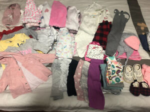 3-6 month girls lot EUC
