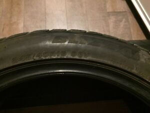 Blizzack 245/40/19 winter tires off rims Regina Regina Area image 1