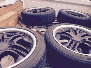 """Nice set of 18"""" rims w/ Michelin tires"""