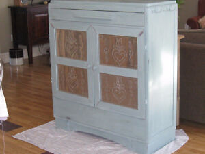 Vintage refinished and distressed Hutch