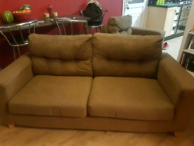 Chair and large 2 seater sofa