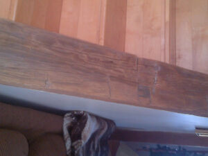 Hand hewn barn boards