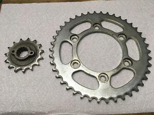 Ducati ST2 front and rear sprockets