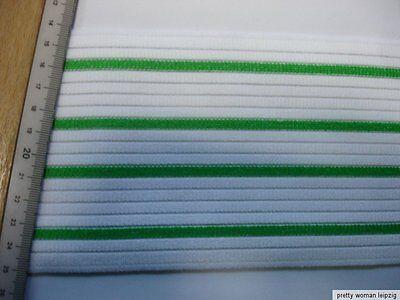 Gummiband Bandage Stützgürtel Meterware grün/weiß 11cm breit MC22