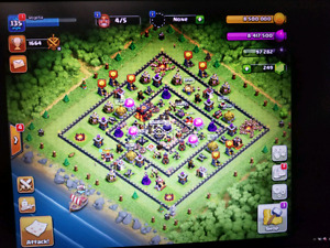 Clash of clans engineered base. Low war weight. High heroes