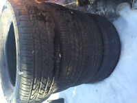 225/65/R17  Bridgestone Dueler HP All Season 85% tread