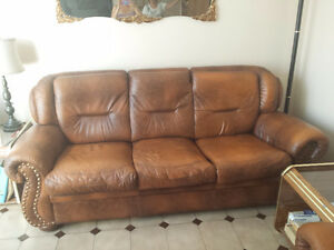 Leather couch and four on 350$