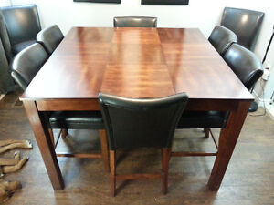 Pub Style Dining Table & 8 Chairs