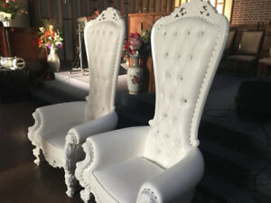 Baby shower chair Beautiful Highback throne chair for rent!